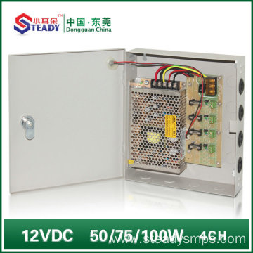 4 Channel DC Power Supply Box 12V5A